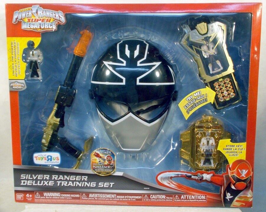Power Rangers súper Megaforce Plata conjunto de capacitación de lujo Ranger MásCochea Morpher clave
