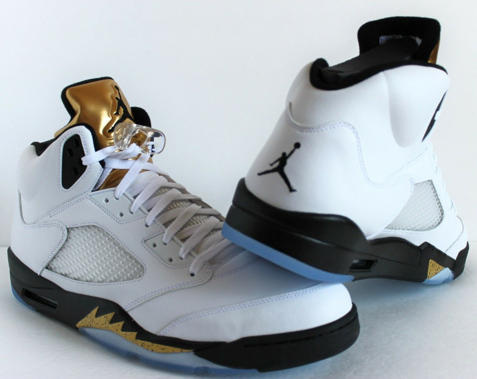 NIKE NIKE NIKE AIR JORDAN 5 RETRO WHITE/BLACK-METALLIC GOLD GOLD MEDAL SZ 15 [136027-133] af9e15