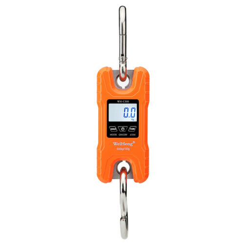 WeiHeng Portable Heavy Duty Digital Crane Scale 500kg//1102Lbs Multifunction P8R4