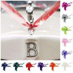 Wedding-Car-Decoration-Kit-7-Metre-039-s-Ribbon-1-3-or-5-LARGE-50mm-Bows-GIFT-WRAP
