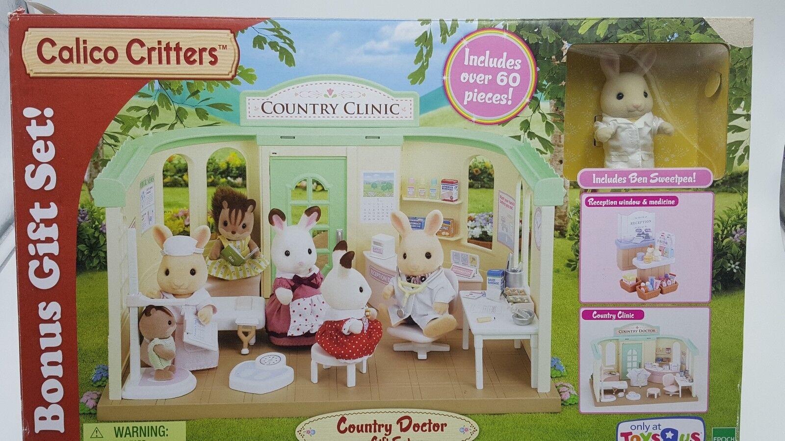 Calico Critters país médico clínica Juguete R Us Exclusive Bonus Conjunto de Regalo Nuevo En Caja