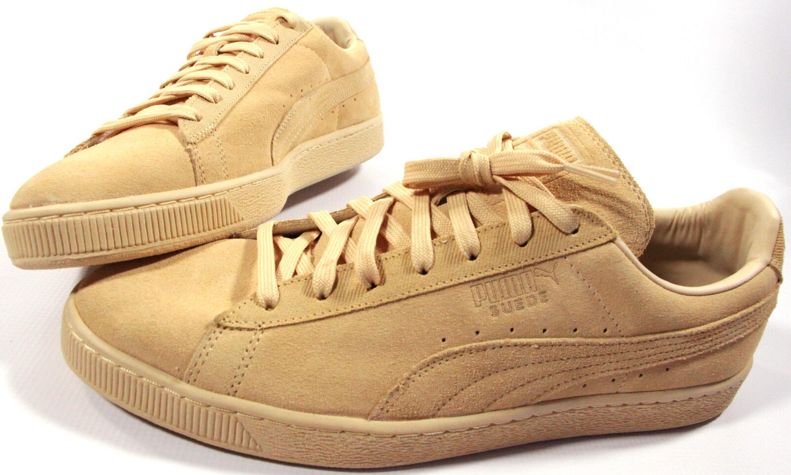 PUMA Suede Classic Tonal shoes- 12- NEW- natural beige retro leather Sneakers