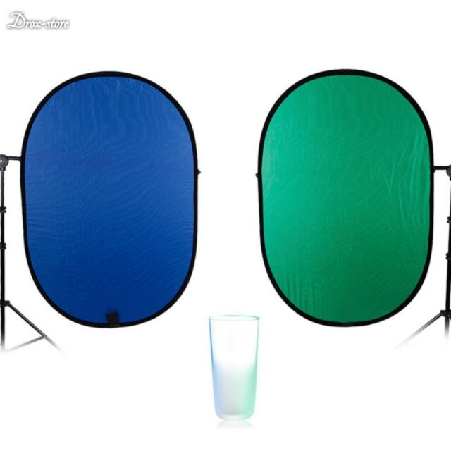 100150CM Oval Collapsible Portable Reflector Blue and Green Screen Chromakey Photo Studio Light Reflector For Photography