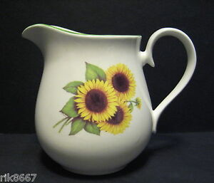 Sunflower 6 Cup English Fine Bone China Tea Pot By Milton China print B
