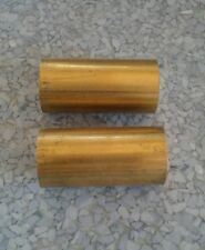 C360 Brass 1 Round Rod Stock 2 Pc 2 Long Lathe Machinist Tool New Solid Bar