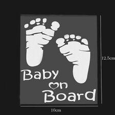 DIY Baby on Board Footprint Self Adhesive Car Rear Windows Sticker Bumper Emblem