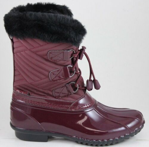48893 Hampshire Burgundy manchester Impermeabile 3m Skechers Donna Thinsulate 4wTqnxOtSv