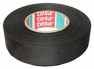tesa 51025 3 4 x 27 5yds adhesive cloth fabric tape cable looms rh ebay com Auto Wire Loom Cloth Wire Loom