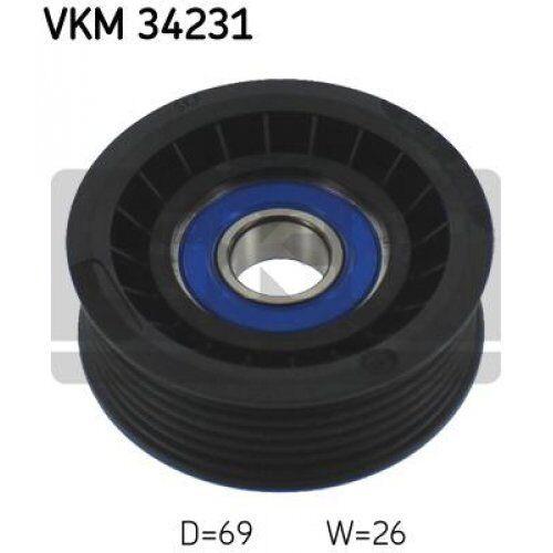 v-ribbed belt VKM 34231 SKF Deflection//Guide Pulley