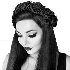 Celestial BLACK ROSE Hairband-Gothic Rose Corona