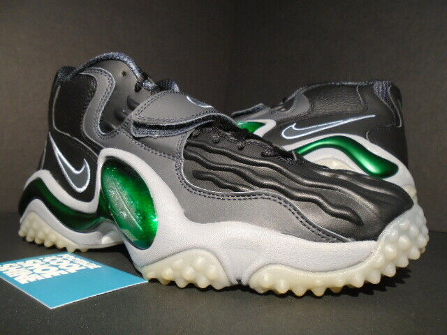 2012 NIKE AIR ZOOM TURF JET '97 MAX 1 BLACK STEALTH GREY GREEN 554989-001 9.5