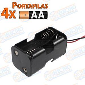 Bien éDuqué Portapilas 4x Aa 6v 2+2 Con Cable - Arduino Electronica Diy Avec Les éQuipements Et Les Techniques Les Plus Modernes