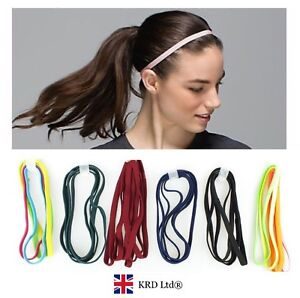 4 x Girls Snag Free Head Bands Hairbands Elastic Headbands Sport Head Band UK