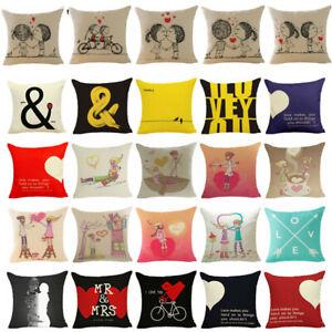 Valentine/'s Day Throw Cushion Cover Sofa Waist Pillow Case Home Decor Lover Gift