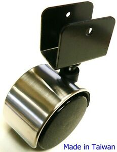 Image Is Loading Oajen 2 034 50mm Chrome Chair Caster Pack