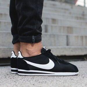 cheap for discount be3cb bd8d0 Details about Nike Classic Cortez Nylon Black/White 807472-011 Men's Sz 11