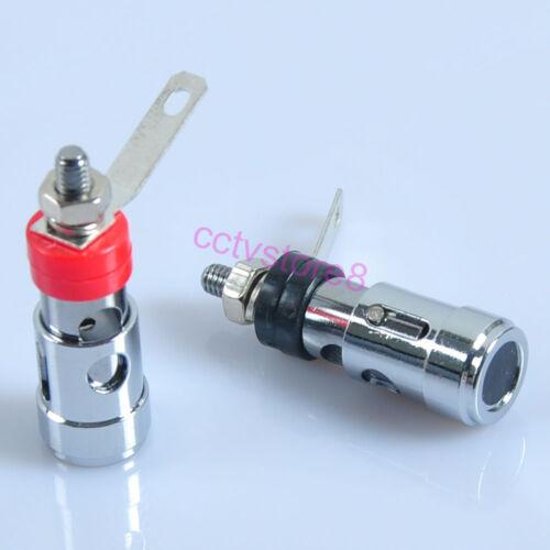 8pcs Silver  Binding Post Jack  Terminal Male HIFI Audio Amplifier  Connector
