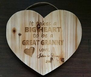 Image Is Loading Personalized Wood Heart Sign For Great Grandma Granny
