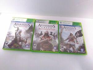 3-Game-Assassins-Creed-Bundle-XBOX-360-III-IV-Brotherhood-Tested-amp-Working