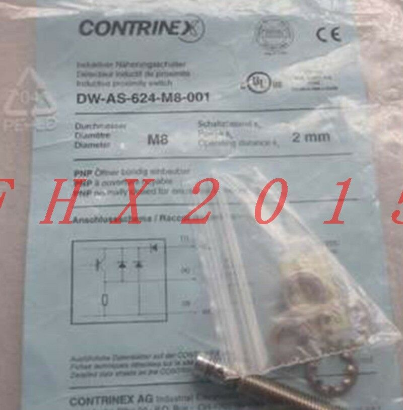 ONE NEW Contrinex Proximity Switch DW-AS-624-M8-001