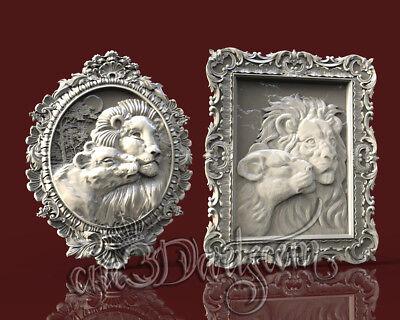 2 3D STL Models Elephant Pack For CNC Router Carving Machine  Artcam aspire