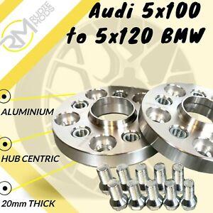 AUTO BMW 5x120 72.5 per AUDI 5x100 20mm Hubcentric PCD Adattatori-inserti in acciaio