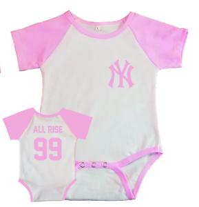 New York Yankees Aaron juge jersey BABY SHIRT BODY tous naissance rose
