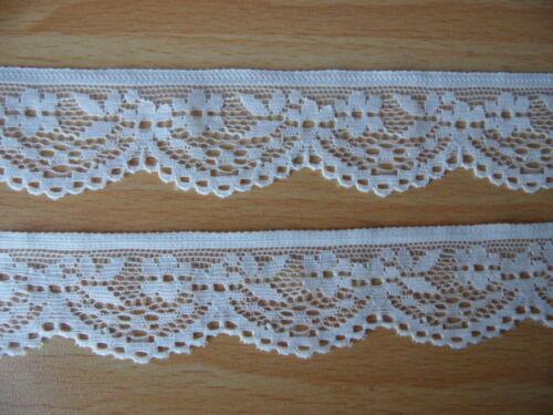 1 metros de cinta de encaje elástico de calidad blanco 2.8 cm de ancho para la decoración de costura