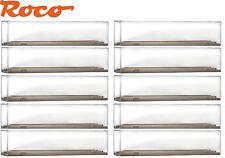 10 Stück Roco H0 40026 Vitrine / Präsentationsbox für Modelle bis 290 mm - NEU