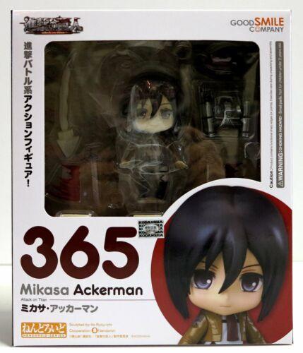 In STOCK Nendoroid Attack on TItan Mikasa Ackerman 365 Action Figure
