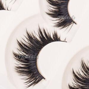 Soft 5 Pairs Makeup Long Black Nautral Handmade Thick False ...
