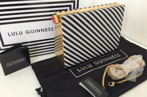 Shoulder Bag Box Black Guinness White amp; Clutch Lulu Bnib Stripe Karlie 4qzC8nwp