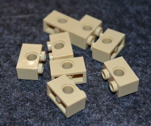 (8) 1x2 Tan / Sand Technic Brick w/ Center Hole Bricks  ~ Lego ~ NEW