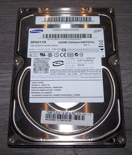 Samsung Spinpoint PL40 SP0411N 40GB HD PATA 2MB Cache 7.200 U/Min.