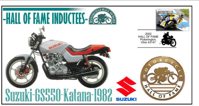SUZUKI MOTORCYCLE HALL OF FAME COV, 1982 GS550 KATANA