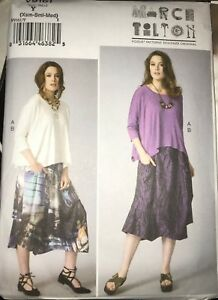 Vogue-V9161-Marcy-Tilton-Loose-Fit-Top-and-Skirt-Size-XS-M-or-L-XXL-Uncut