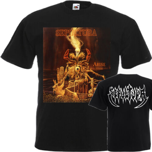 NEW T-SHIRT /'/'ARISE BY THRASH METAL BAND SEPULTURA/'/' DTG PRINTED TEE-S:6XL