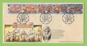 Conjunto-de-1988-armada-espanola-Graham-Brown-sobre-primer-dia-cubierta-Bradbury-oficial