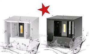 Applique led cob cubo lampada da parete 6w 10w luce regolabile
