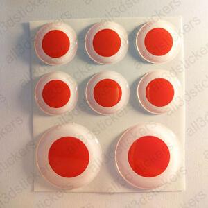 Pegatinas-Japon-Pegatina-Bandera-Japon-Redondas-3D-Vinilo-Adhesivo-Relieve