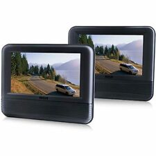 """RCA DRC69705 7"""" inch Dual Screen Mobile System Car Headrest Portable DVD Player"""
