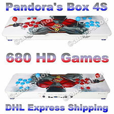 Genuine Pandora's Box 4S 2 Player Arcade Video Game Console 680 HD Classic Games