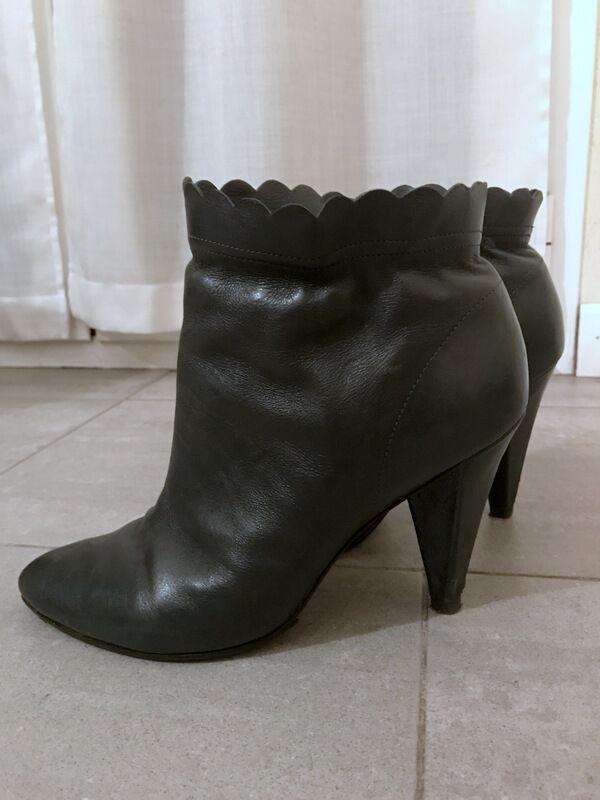 vendita economica Stivaletti Stivaletti Stivaletti grigi pelle MARC by MARC JACOBS leather grigio ankle stivali EU37,5 UK4,5  godendo i tuoi acquisti