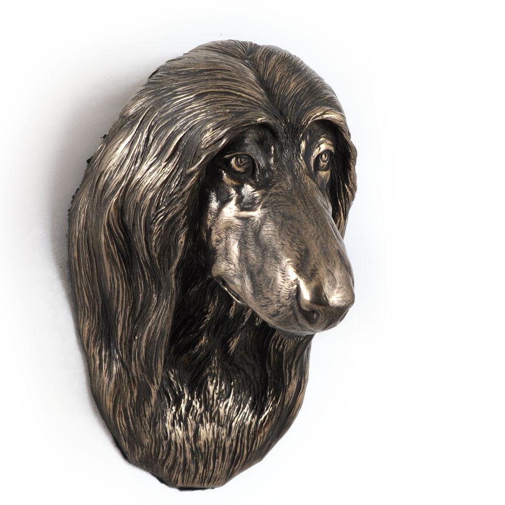 Lévrier afghan, afghan, Lévrier statue de chien à accrocher au mur Art Dog FR 78765b