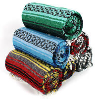 11 Real Mexico Rug Falsa Yoga Beach Blanket Throw Wholesale Sarape Afghan Twin