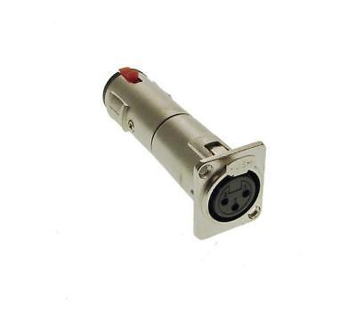 2 Pack ProCraft SVP578-1 Locking 1//4 XLR Female Adapter Pass Through Connector