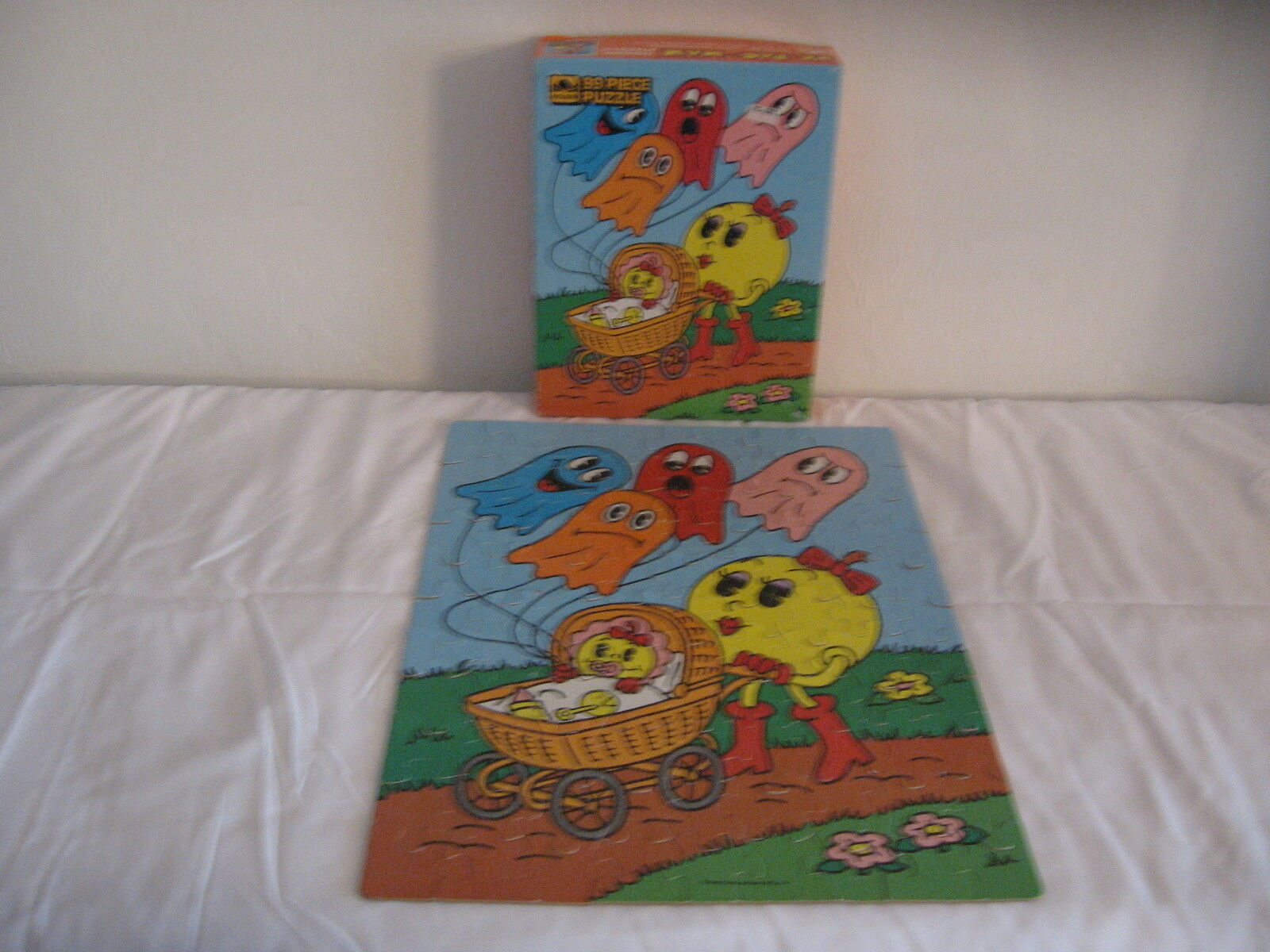 VINTAGE1982 PACMAN MS PACMAN PACMAN PACMAN     99pc PUZZLE COMPLETE      RARE     e9f83f