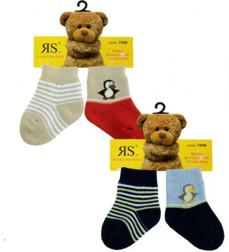 2 paire bébé éponge de socquettes avec motif baumwollmischung #1e6