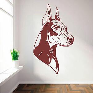 DOBERMAN-PINSCHER-DOG-vinyl-wall-art-sticker-decal