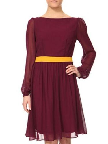 NEW Women Summer Long Sleeve CHIFFON PURPLE Party or Daywear DRESS